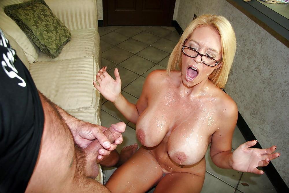 Milf sucking own tits