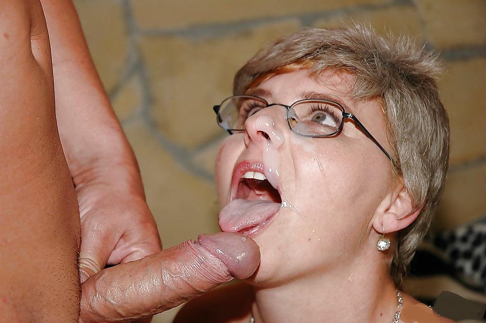 Watch mature cum swallowing older women