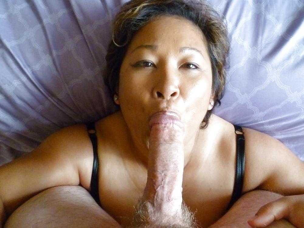 Asian asian granny blow a black cock