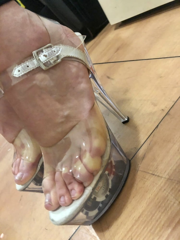 Clear stripper heels from 35yo german lady - 9 Pics