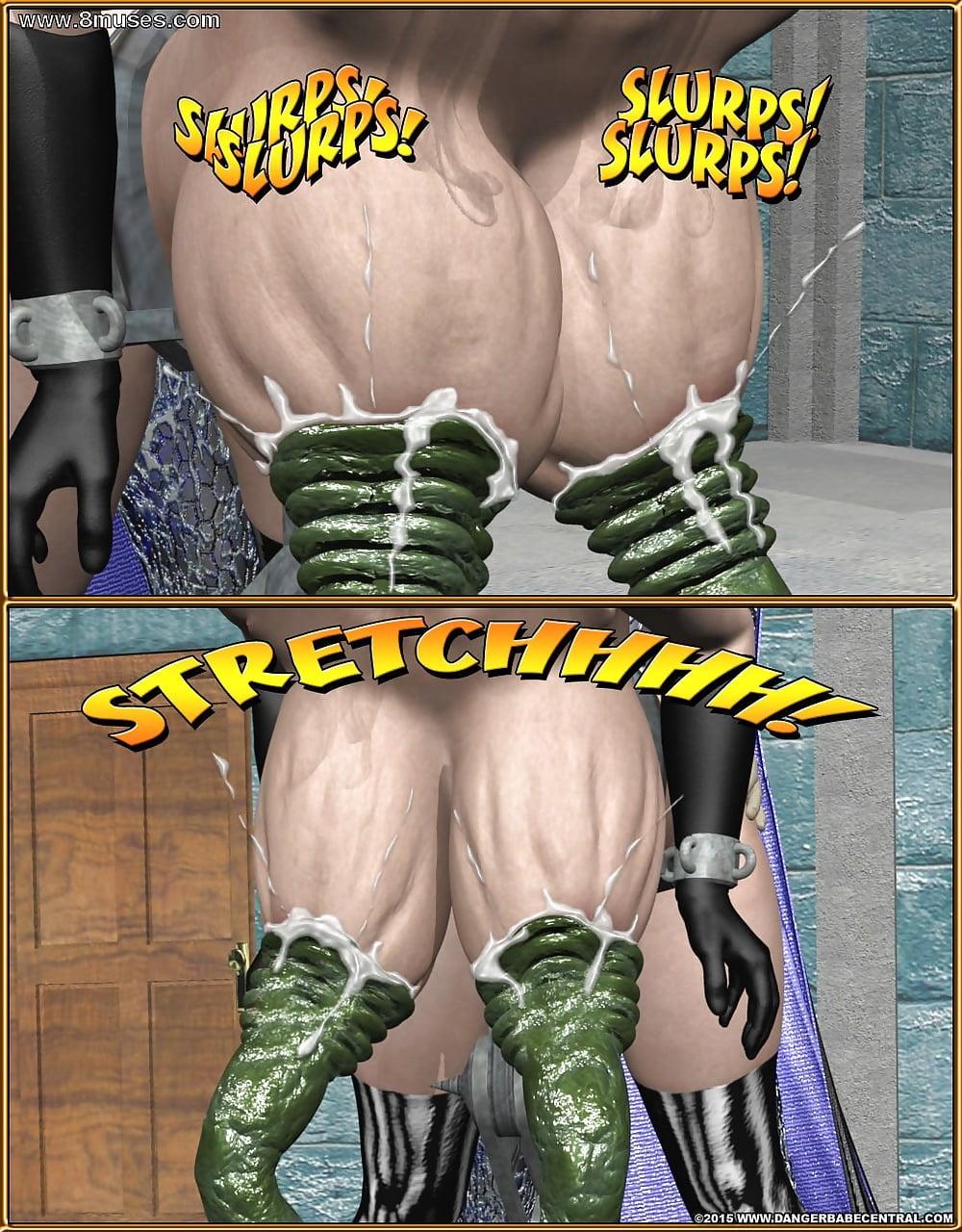 Erotic superheroine comics