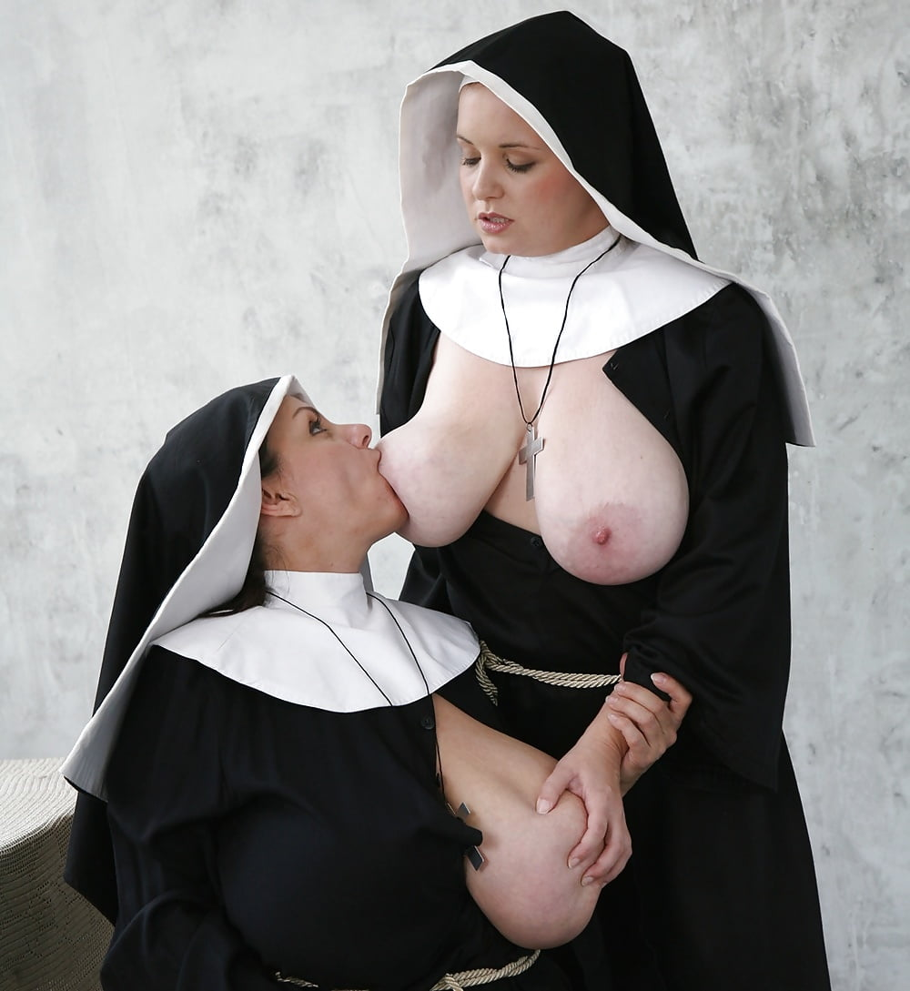 Two sexy big tit nuns fucked hard by priest