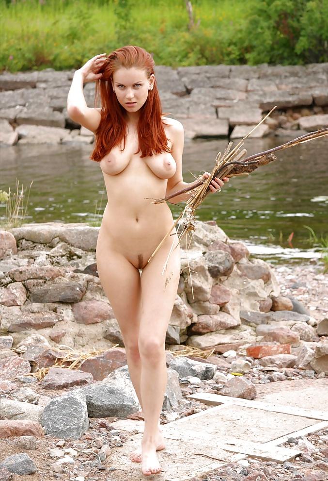 Mature nude redhead