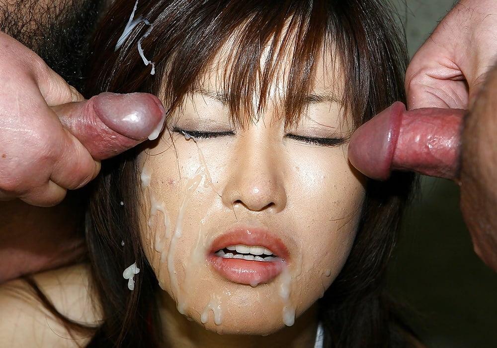Азиатка залитая спермой