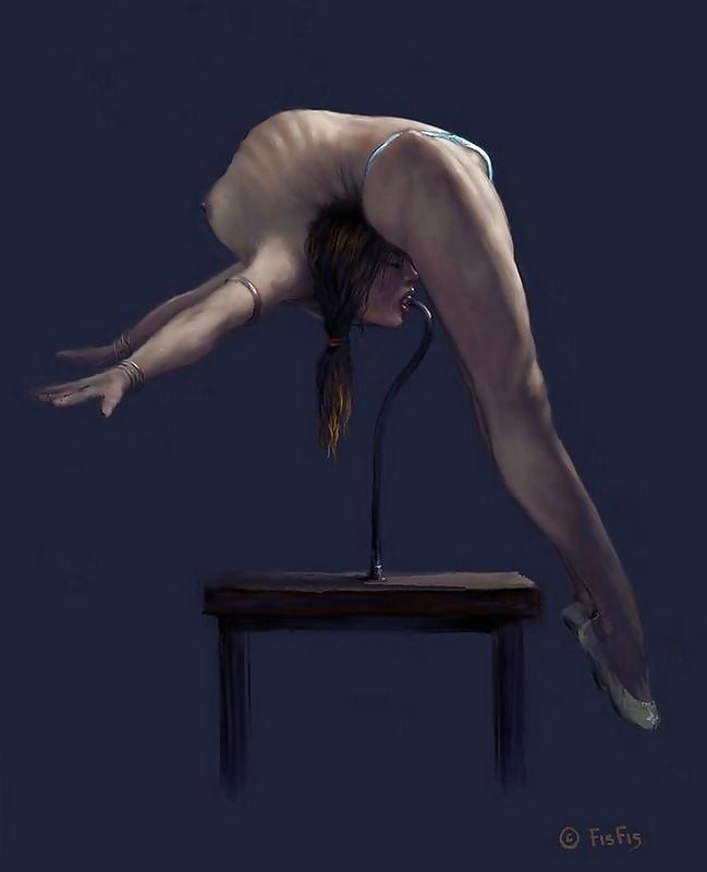 Nude contortion bondage