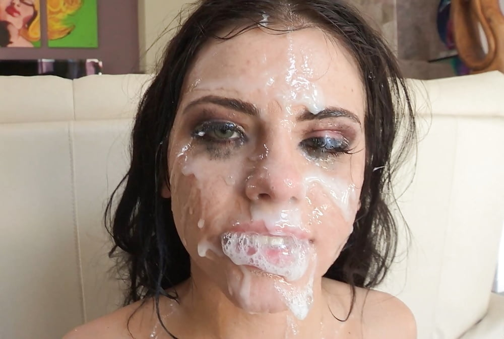 Slut gets facial — 2