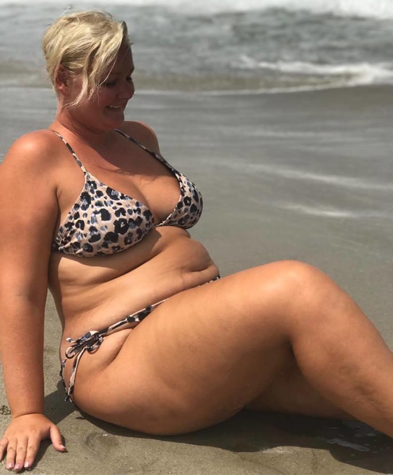Blonde bbw on the beach #14