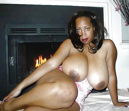 Big mature black tits and ass