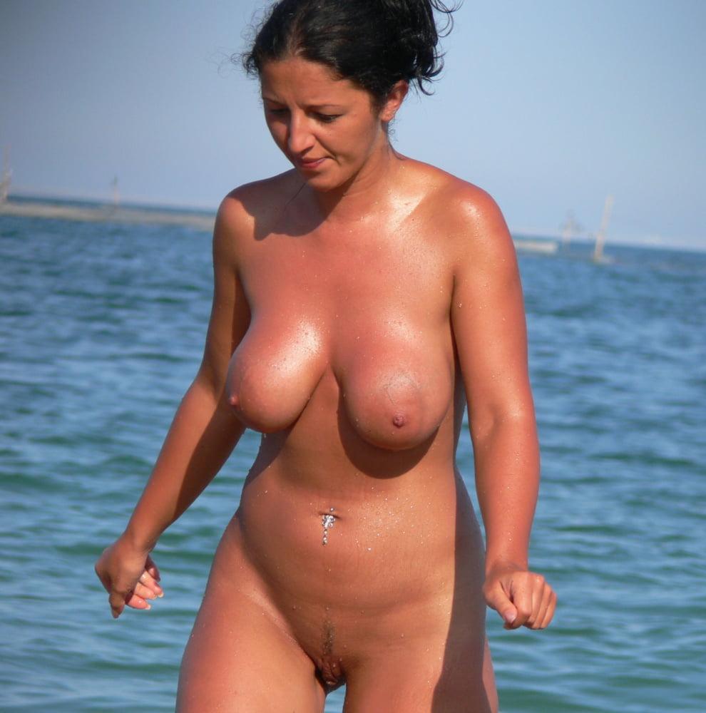 Voluptuous nudist women
