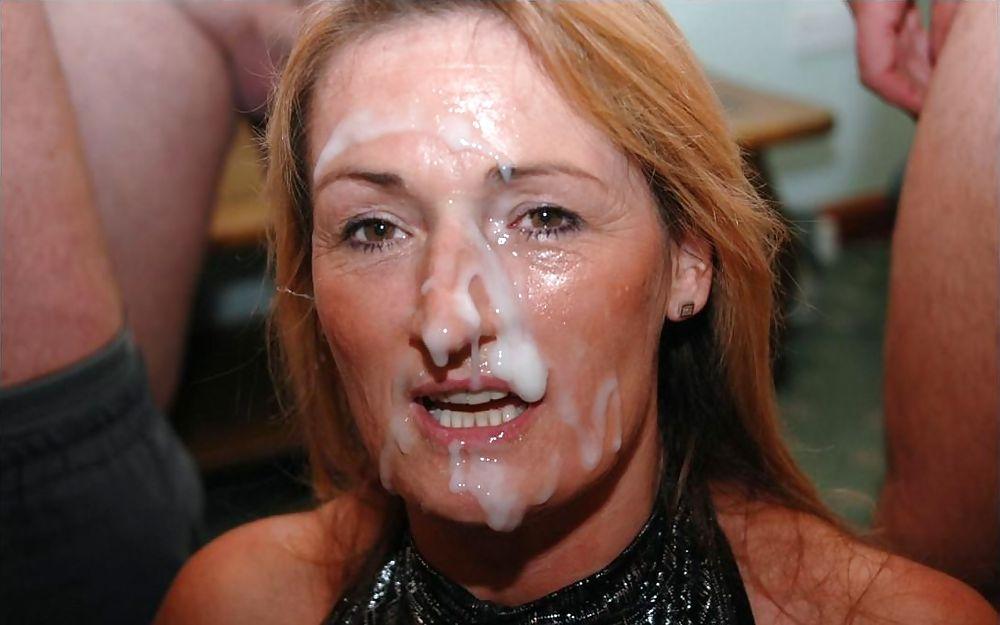Mature British Milf Gets Facial