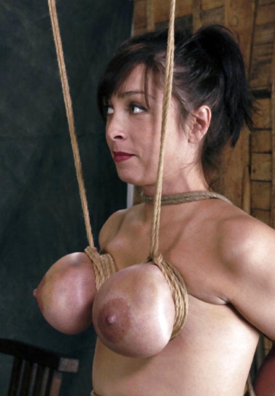 Huge breast bondage