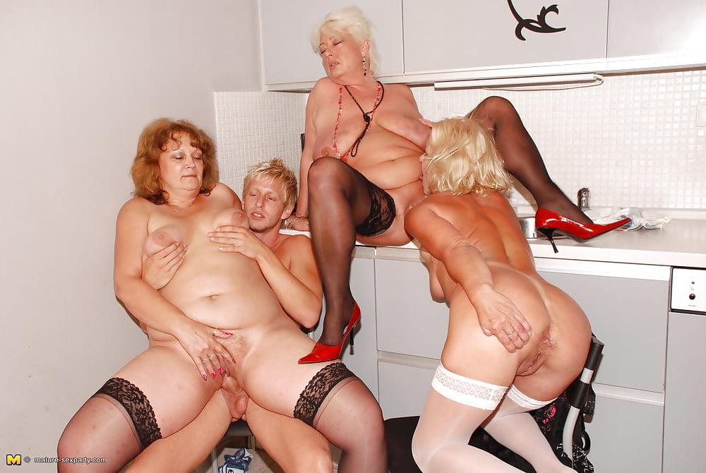 Junior showering grannies group sex