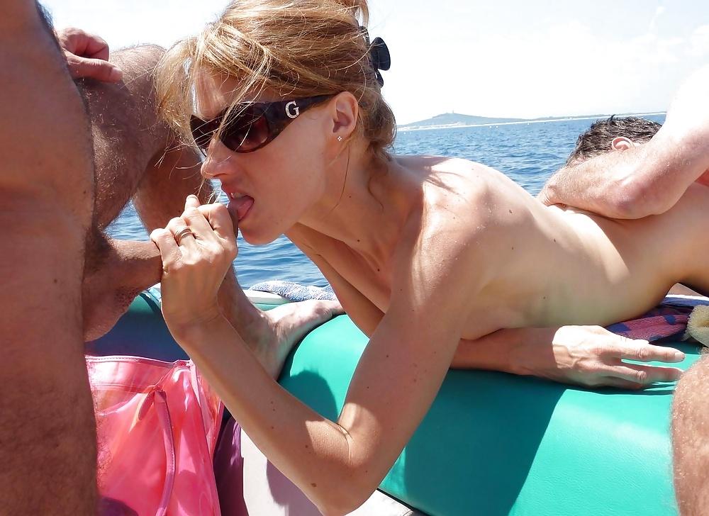Amazing Swingers Blowjob On Boat My Wife Caroline, Uploaded By Sheramoory