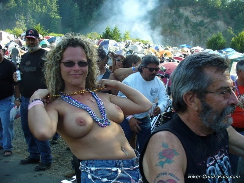 Flashing tits biker party, porn position couple