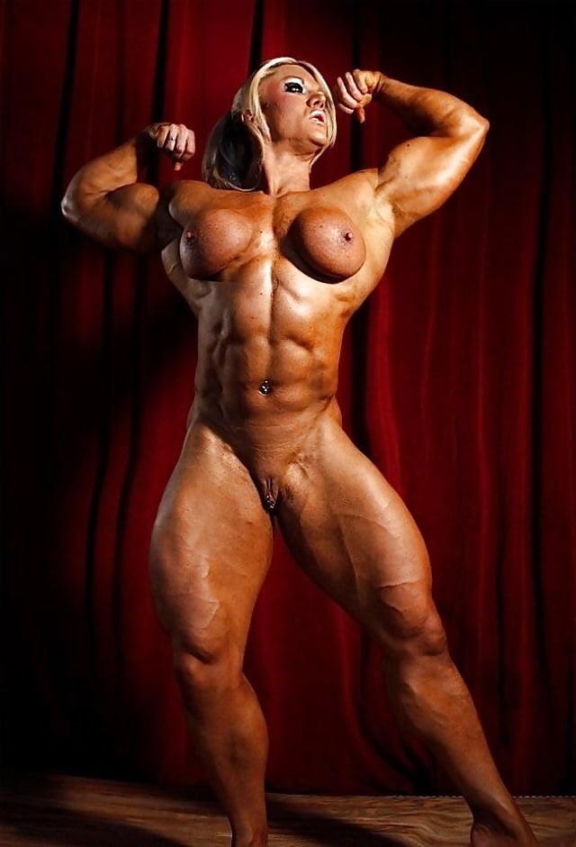 Nude female body builders