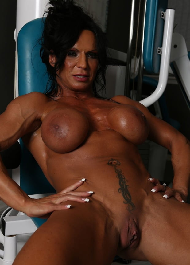 Big clit dildo play masturbation hq muscle girl