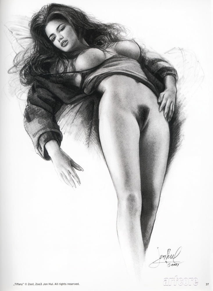 Nude female pencil drawing by morkedin on deviantart