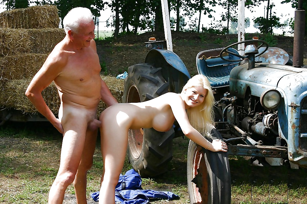Cheating Farmer's Wife Caught By Her Husband While Ass