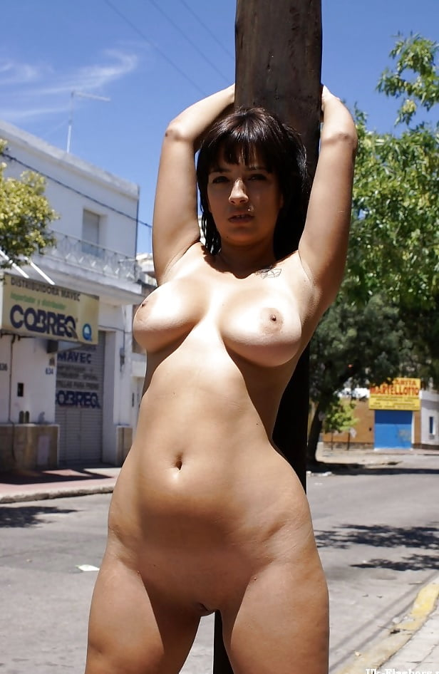 shaved Nude public vibrator