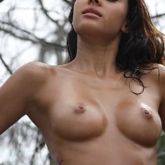 Cute Tanned Latina Gabrielle Bikini Posing Nude Outdoors