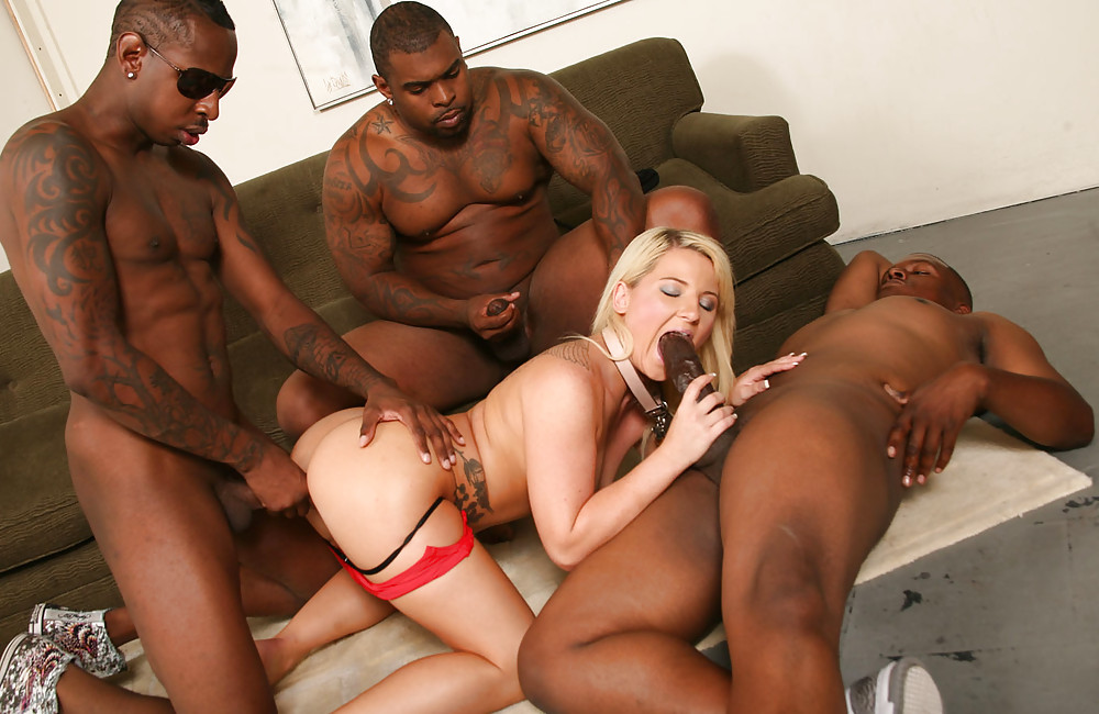 A Thin Bitch With White Skin Sucks An Incredible Dick Nigger And Fucks With A Black Guy