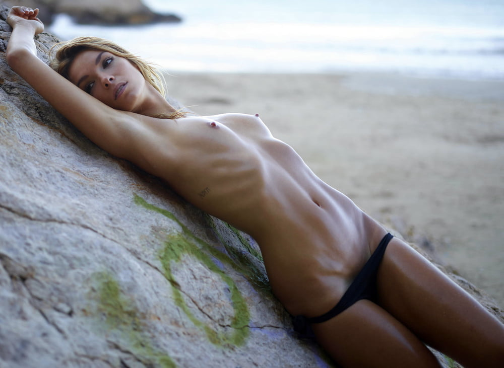 Amber Posing Nude Sensually On Rocky Beach Ftvhunter 1