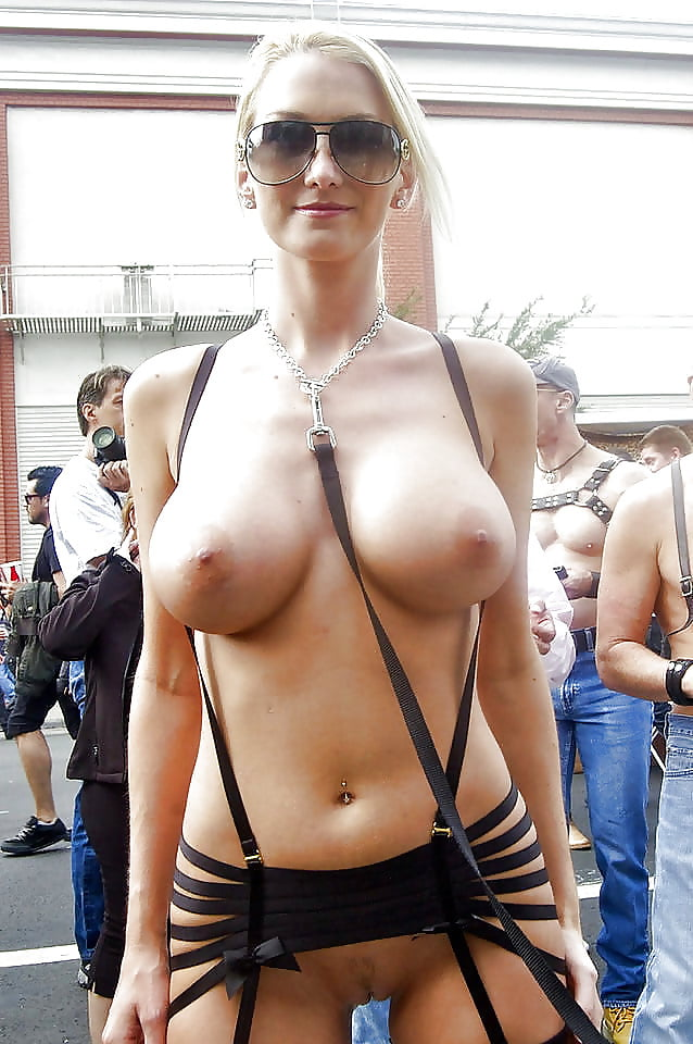 Naked big boobs in public