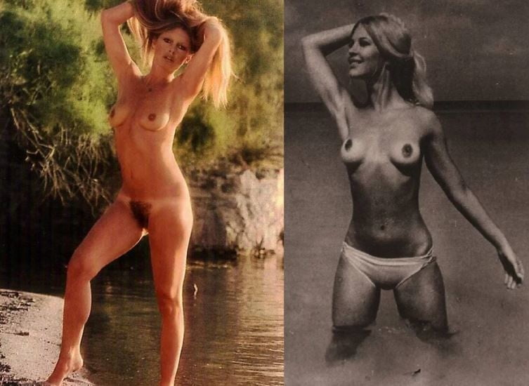 Brigitte bardot exposing her nice big tits and hairy pussy in photoshoot