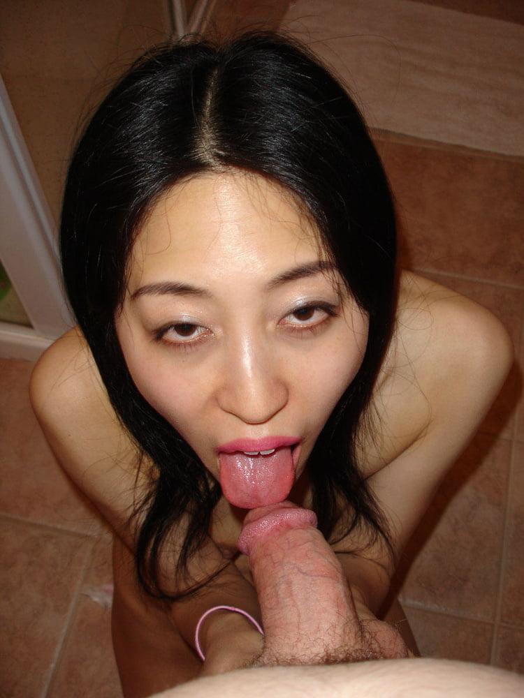 Asian girl big white dick — pic 12
