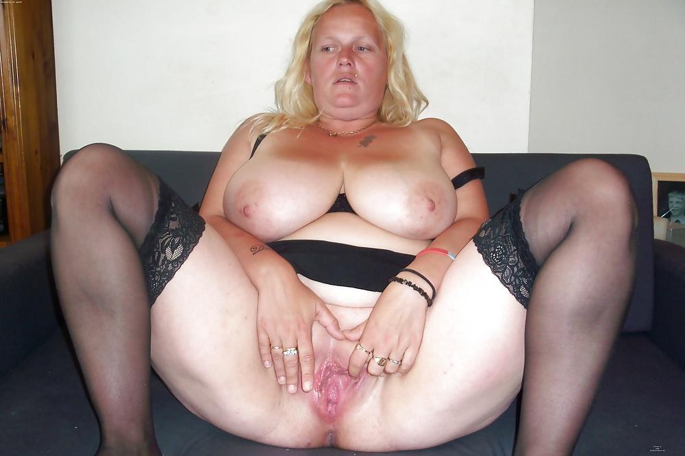 Bbw missy sucking on her fat tits