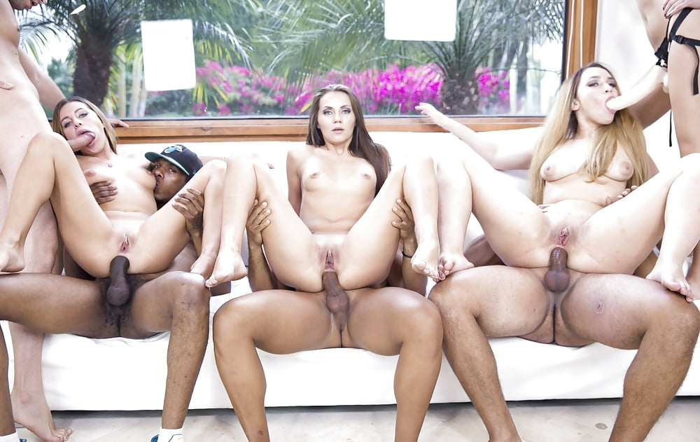 Belle claire and cayla lions in an anal orgy by the pool
