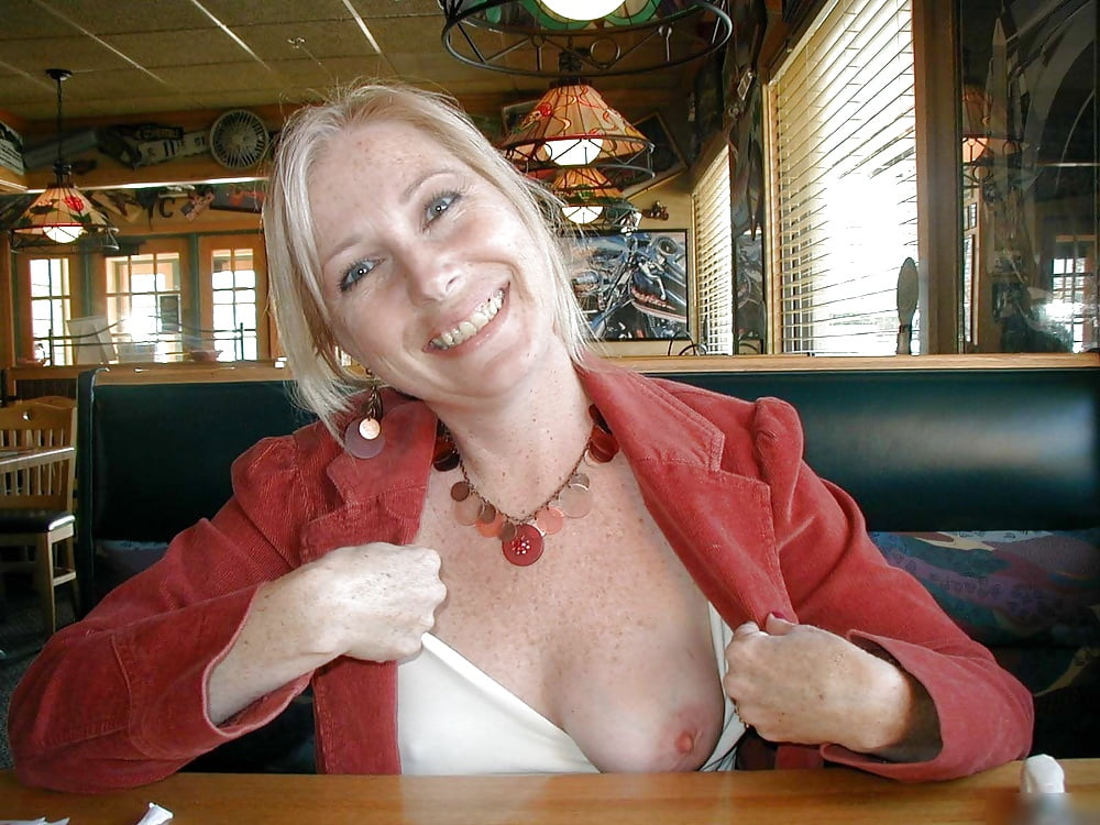 Moms flashing boobs party — 6