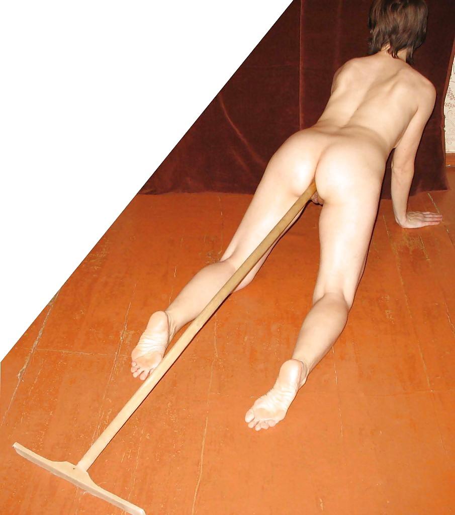в жопу засунули черенок от лопаты