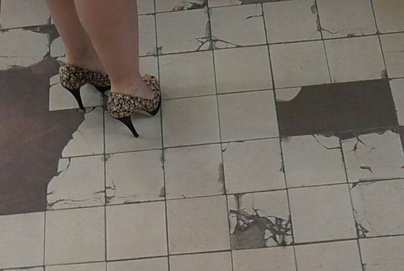 Naked girl heels
