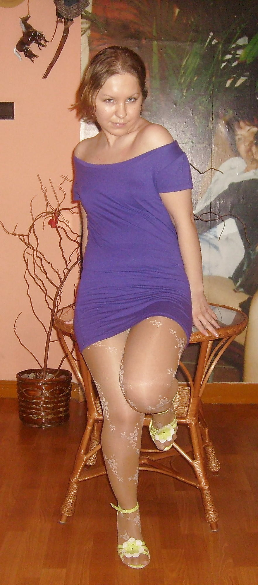 Mature wife in pantyhose