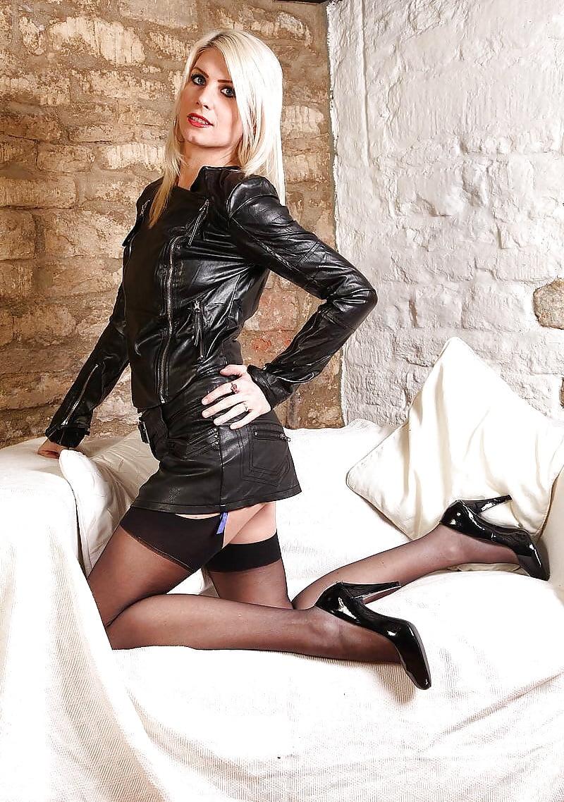 British blonde on black #9