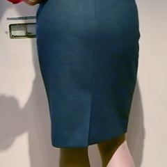 pencil skirt and stockings for work