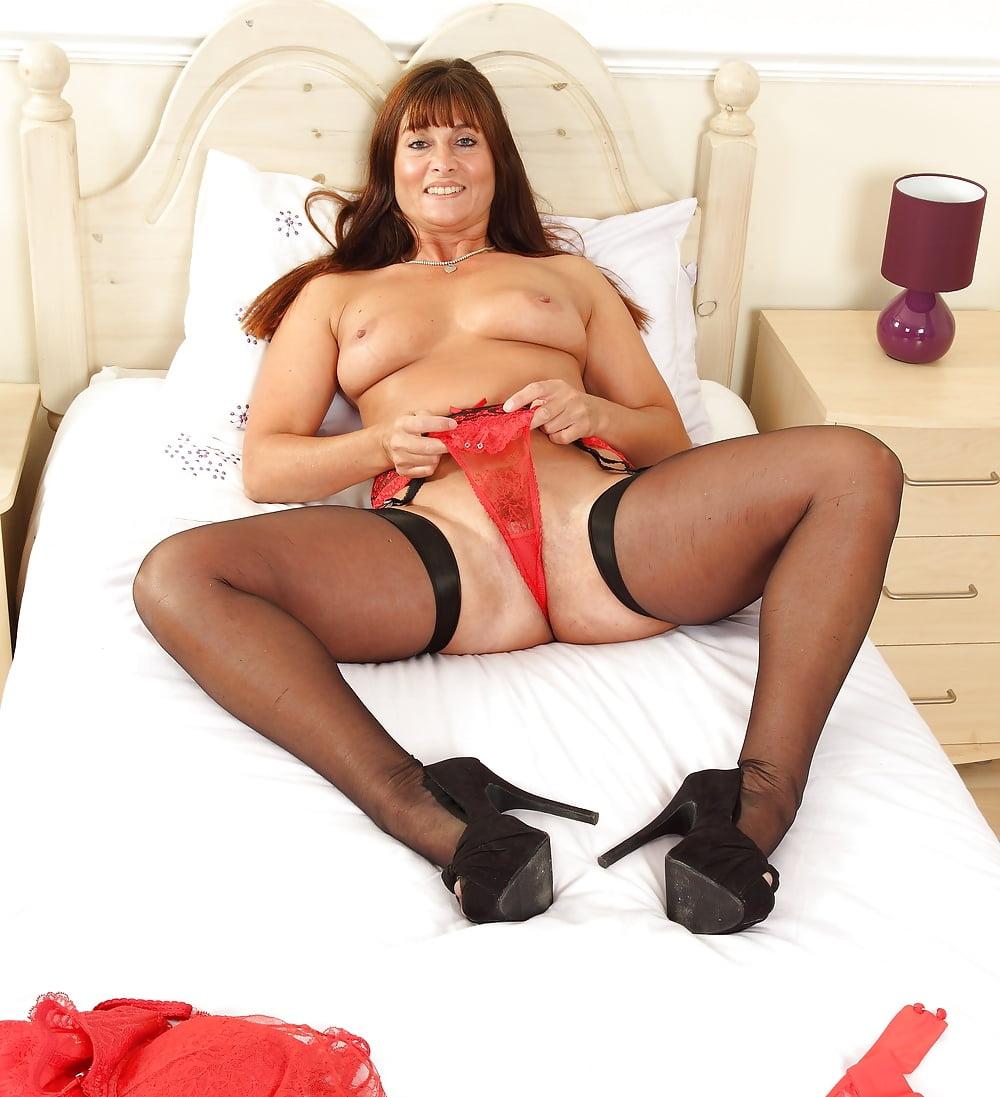Masked gimp masturbates over hot milfs sexy nylon stockings - 3 part 1