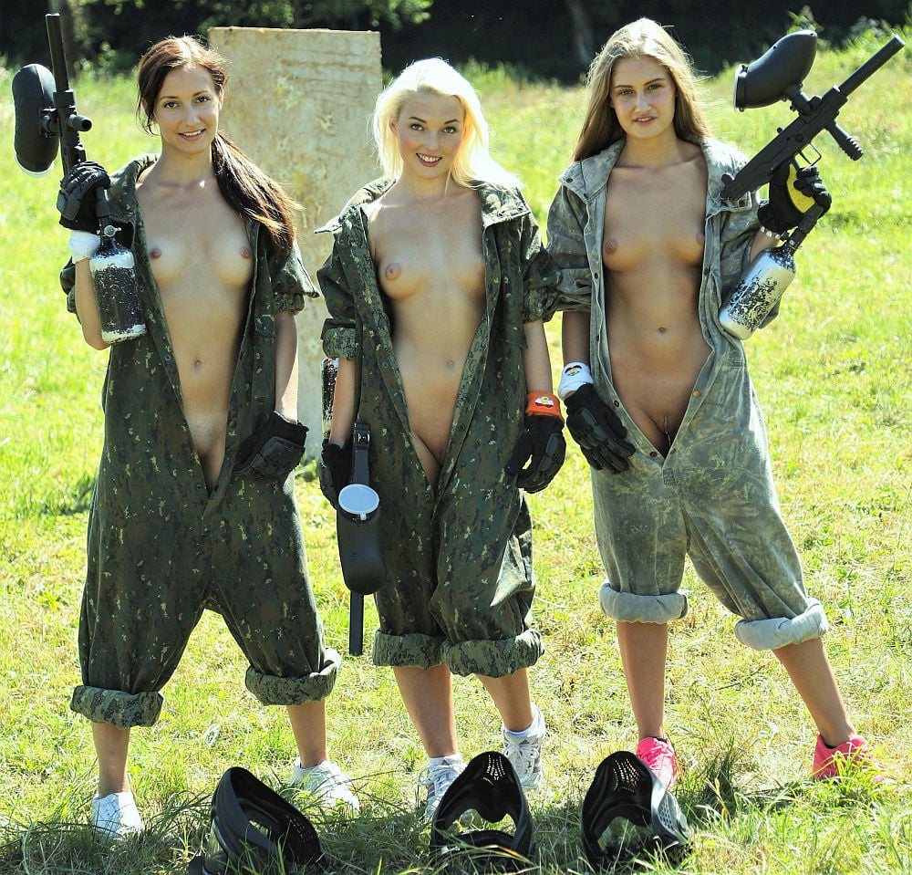 Nude Girls Playing Paintball