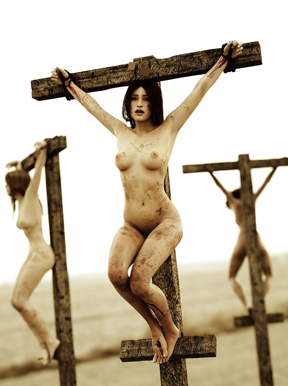 Crucifixion naked crucified girl