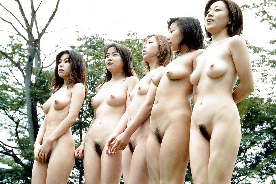Shy Japanese Girl Glads Shaved Pussy