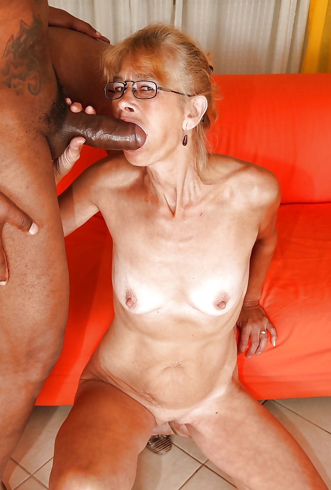Very old granny sucking