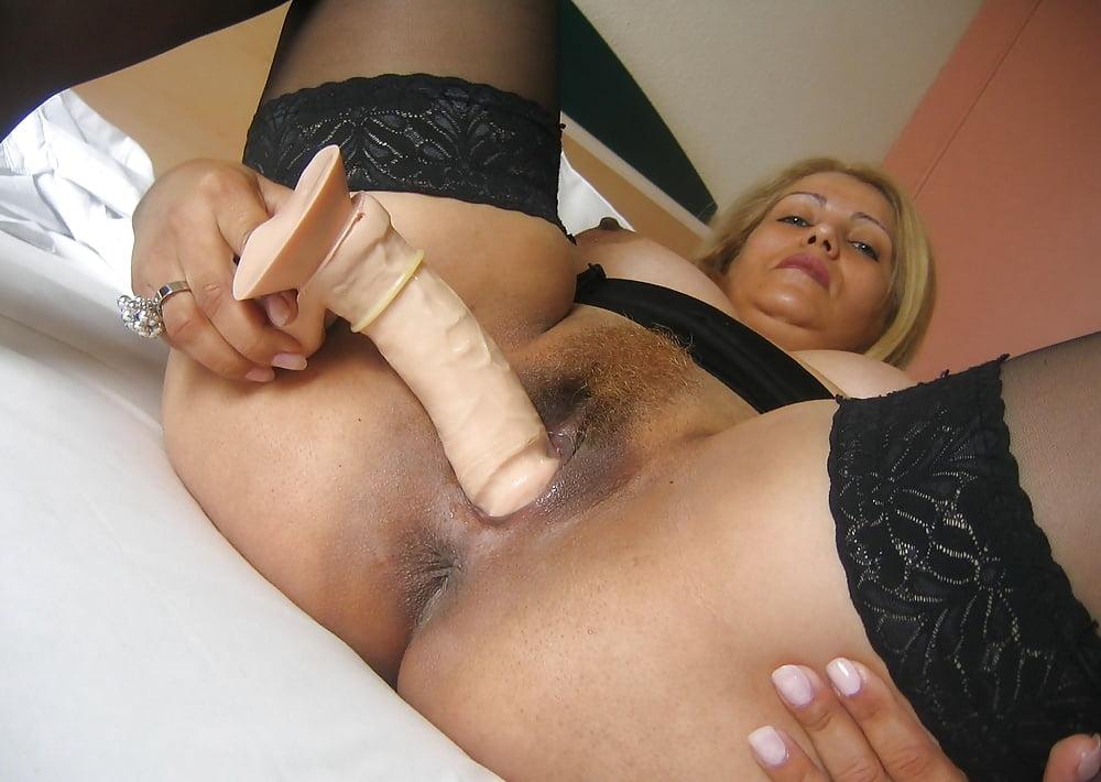 мастурбация зрелых пожилых фаллосом - 4