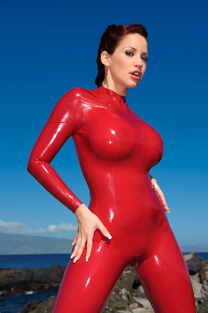 Breasts Catsuit Female Latex Europornstar 1