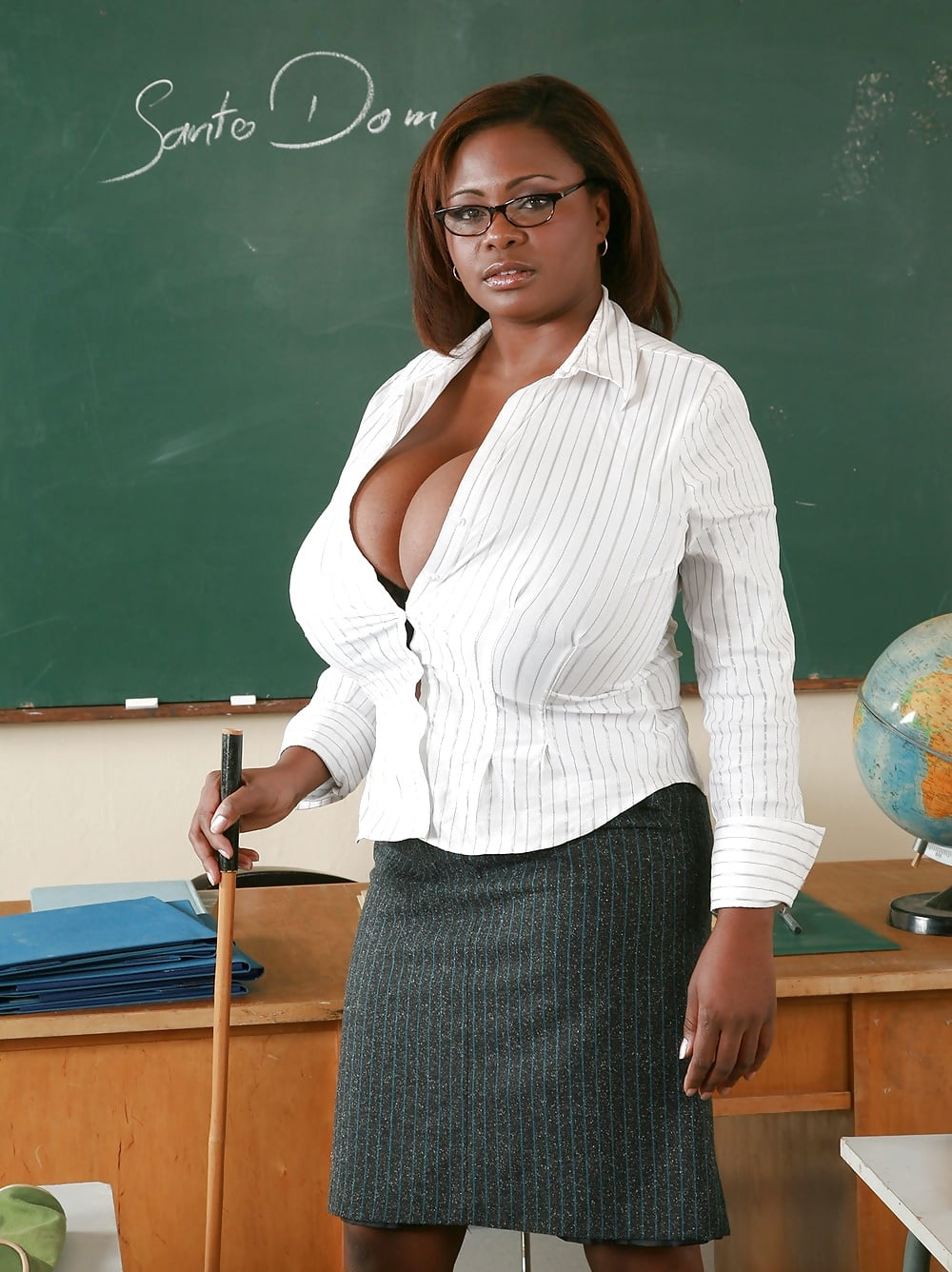 Big boobs teacher blowjob
