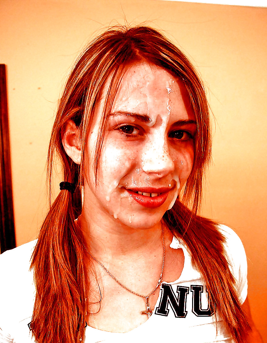 Marine Girl With Braces Cum Facial