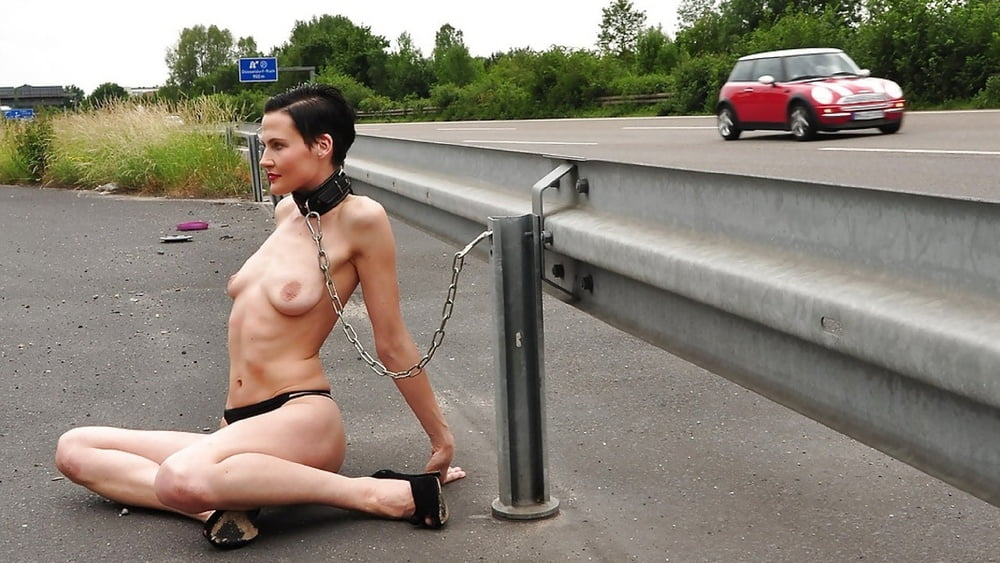 My tied up and public exposed slut wife