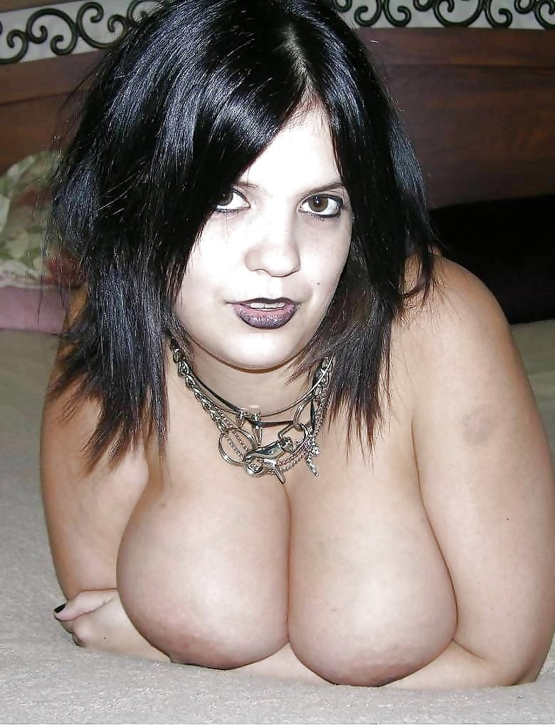 Naked fat emo woman