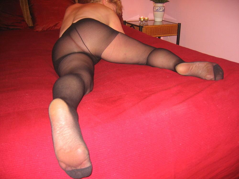 Men in black pantyhose