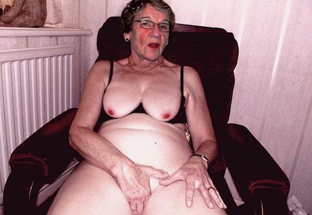 Old ugly grandma ridding
